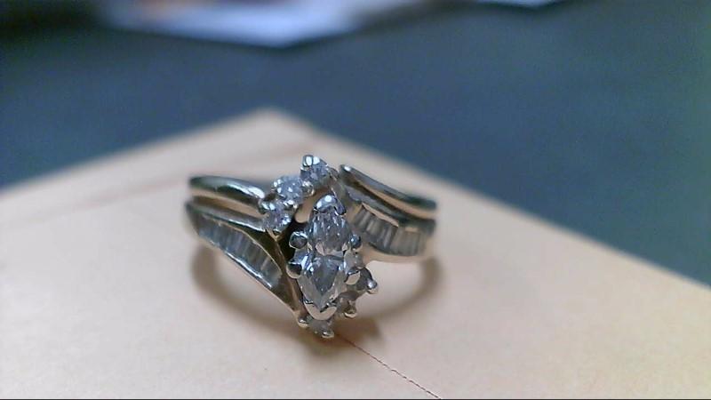 Lady's Diamond Wedding Set 21 Diamonds .66 Carat T.W. 14K Yellow Gold 5g