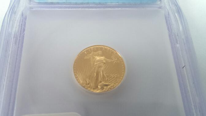 2005 DCAM Frist Day Issue $5 GOLD EAGLE COIN