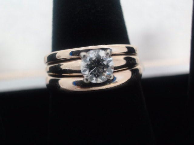 Lady's Diamond Wedding Band .33 CT. 14K Yellow Gold 5.7g