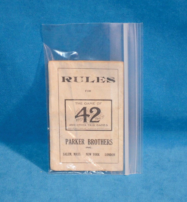 THE GAME OF 42 Game PARKER BROTHERS