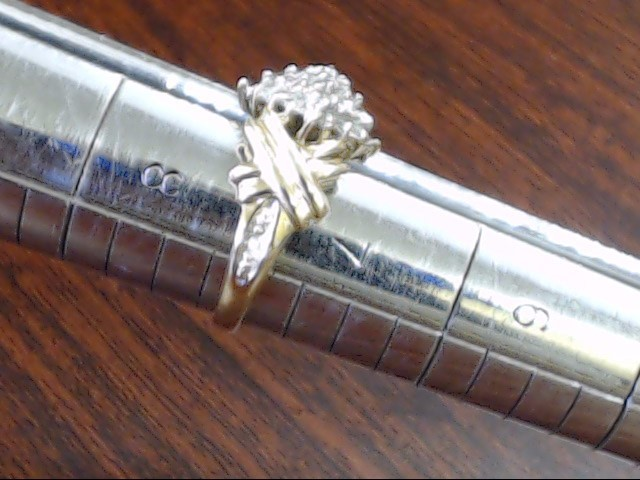 ESTATE DIAMOND CLUSTER RING SOLID REAL 10K GOLD MARQUISE STYLE SZ 7