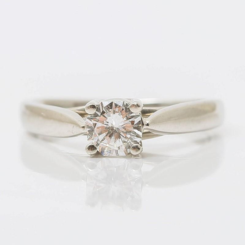 Zales Platinum Round Brilliant Diamond Solitaire Ring Size 5.75