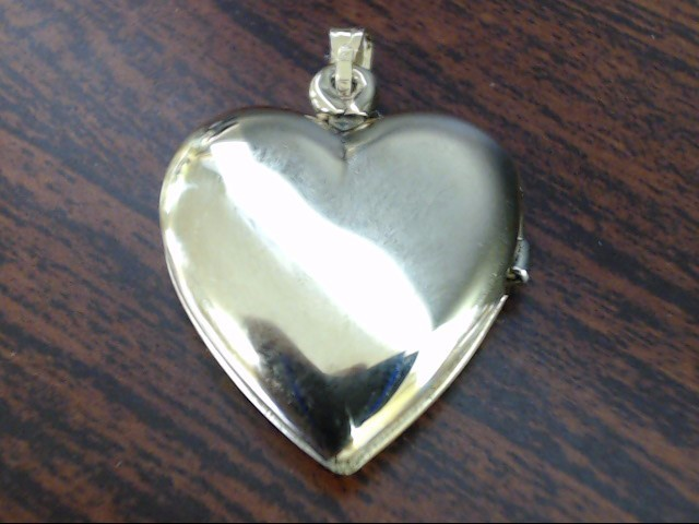 VINTAGE FANCY DESIGN HEART LOCKET PENDANT CHARM SOLID REAL 14K GOLD
