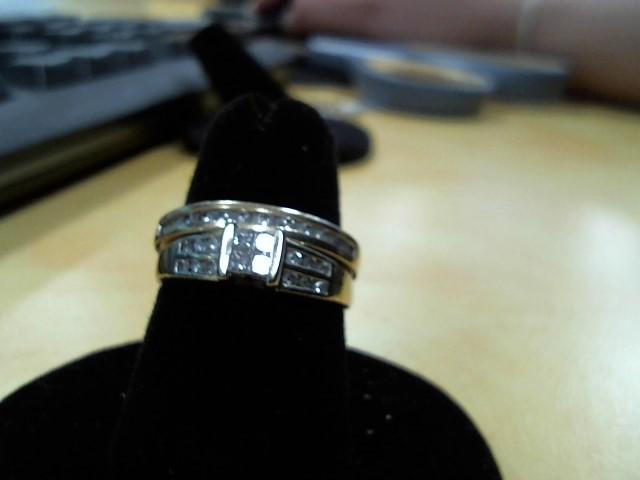 Lady's Diamond Wedding Set 28 Diamonds .28 Carat T.W. 14K Yellow Gold 5g