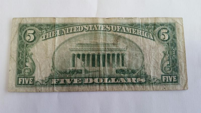 UNITED STATES Paper Money - World 5.00 1950 C FEDERAL RESERVE NOTE
