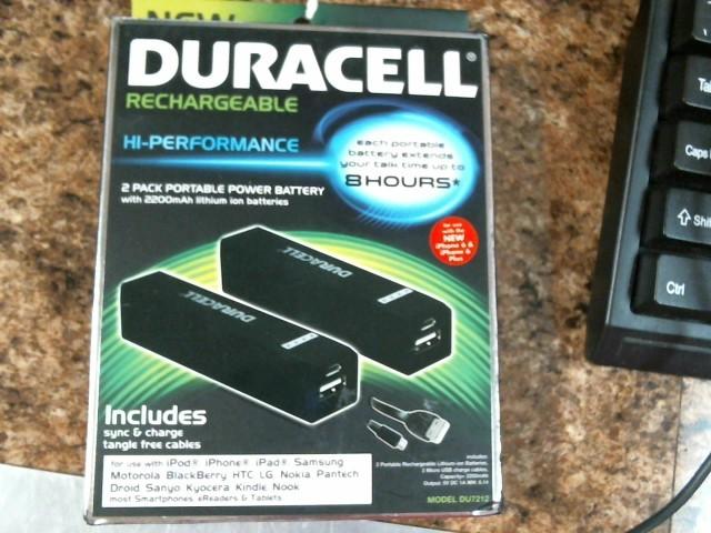 DURACELL Battery/Charger DU 7212