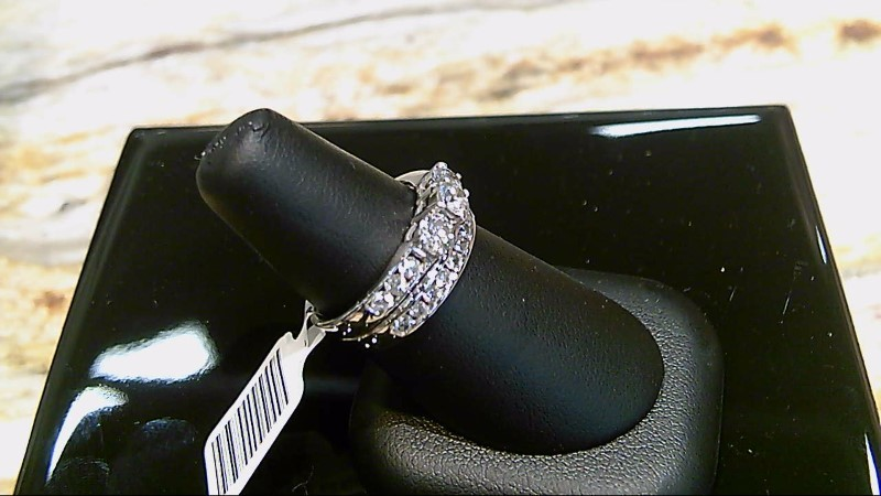 Lady's Diamond Wedding 1 1/2cttw past present future ring 14K White Gold 3.9g