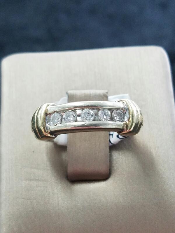 DIAMOND  WEDDING BAND M'S 14KT DIAMOND  3.2DWT/YG