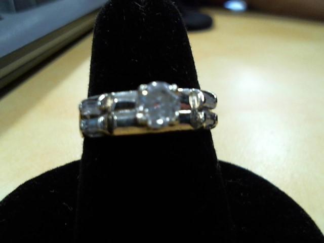 Lady's Diamond Wedding Band 5 Diamonds .33 Carat T.W. 14K White Gold 4.2g