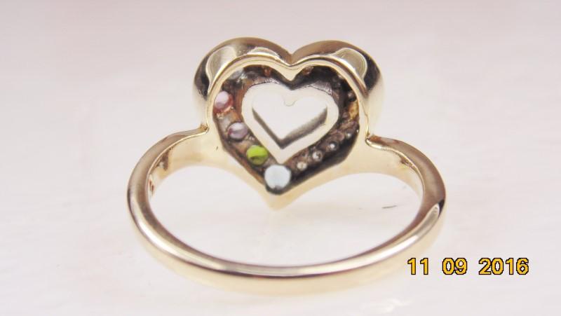 MULTI-STONE RING WITH DIAMONDS APX.17 CT.W. SZ7.5