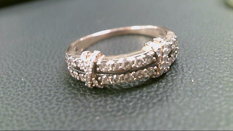 Lady's Diamond Fashion Ring 17 Diamonds .68 Carat T.W. 10K Rose Gold 3.4g