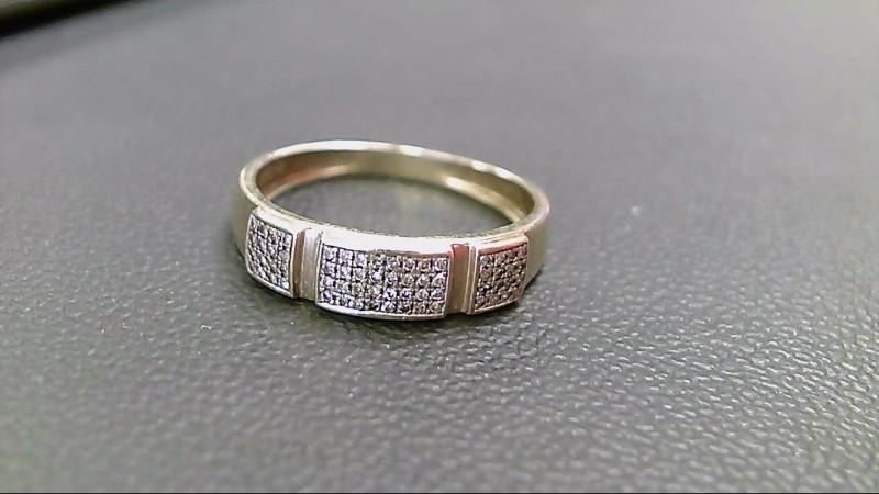 Gent's Diamond Cluster Ring 40 Diamonds .40 Carat T.W. 10K Yellow Gold 2.6g