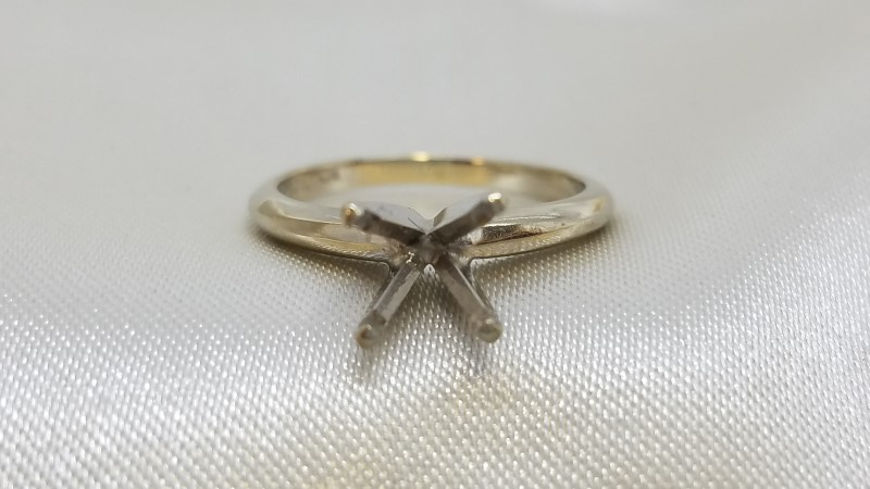 Lady's Gold Ring Mount 14K Yellow Gold 2.2g Size:4.5