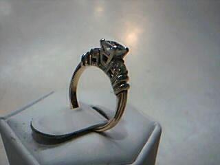 Lady's Diamond Cluster Ring 3 Diamonds .89 Carat T.W. 14K 2 Tone Gold 4.2g