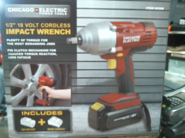 CHICAGO ELECTRIC Combination Tool Set 60380 IMPACT WRENCH