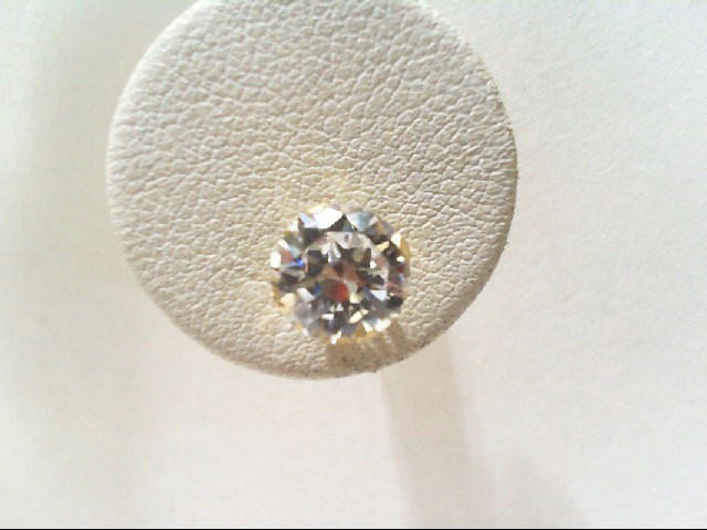 Synthetic Cubic Zirconia Gold-Stone Earrings 14K Yellow Gold 1.2g