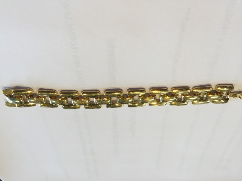 """6"""" STAINLESS STEEL BRACELET, WEIGH 20.1 GRAMS OF SILVER"""