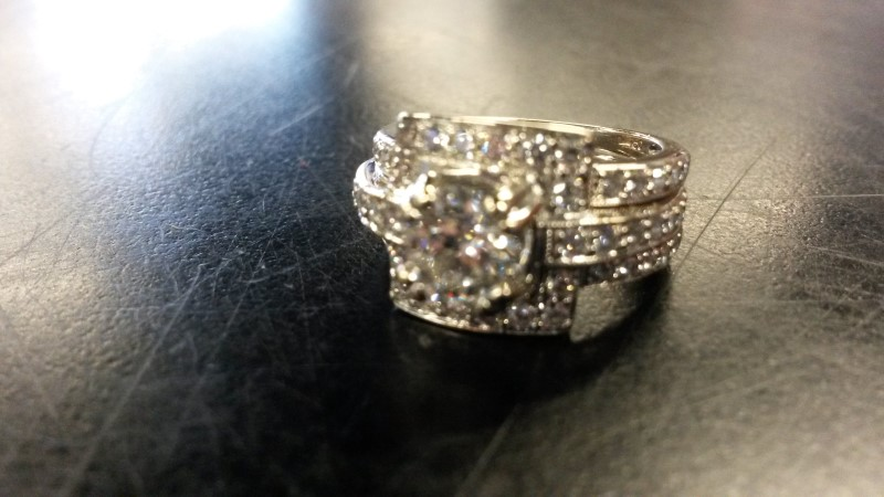 Lady's Diamond Wedding Set 71 Diamonds 3.10 Carat T.W. 18K White Gold 6.61dwt
