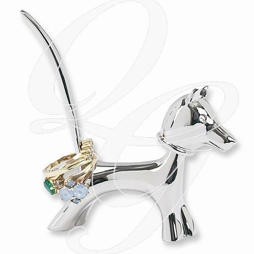 Copper Dog Bobblehead Ring Holder