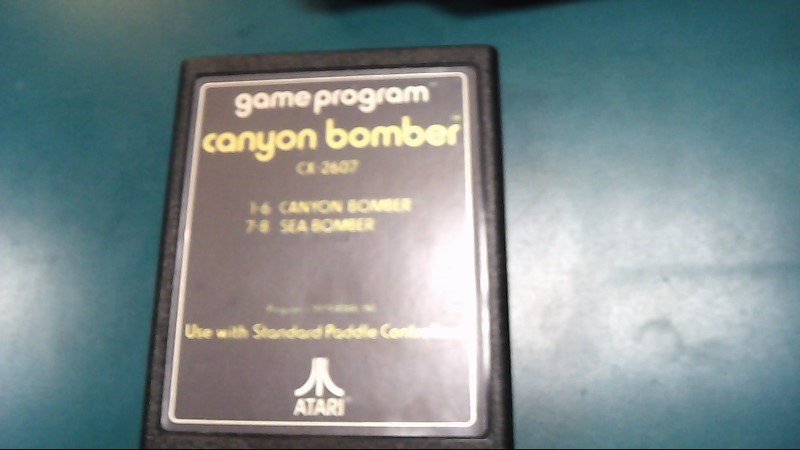 ATARI Vintage Game Canyon Bomber