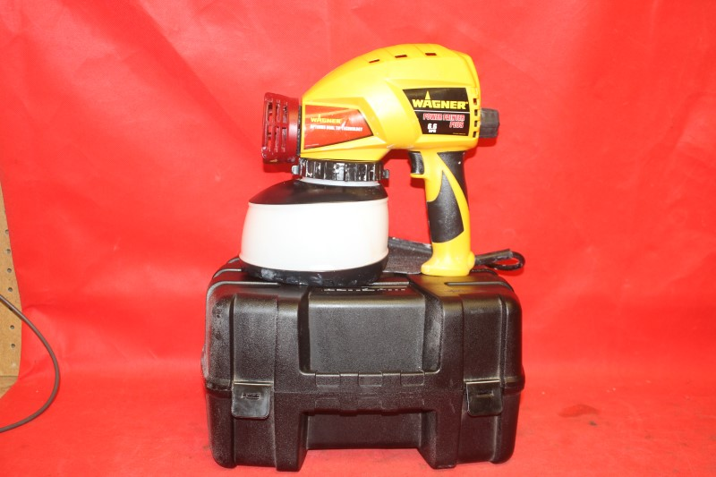 Wagner Power Painter Plus 6.6 handheld paint heavy duty airless spray rig Dewalt