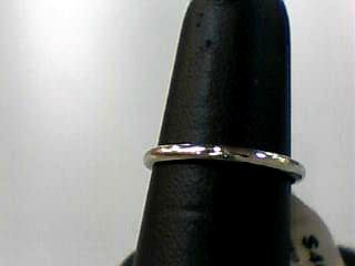 Lady's Gold Wedding Band 10K White Gold 0.8dwt Size:6.5