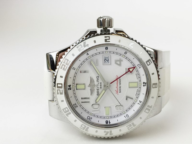 BREITLING A32380 SUPEROCEAN WHITE WATCH