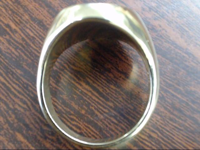 ESTATE TIFFANY & CO MONOGRAM RING 14K YELLOW GOLD HEAVY 15.8g SIZE 9