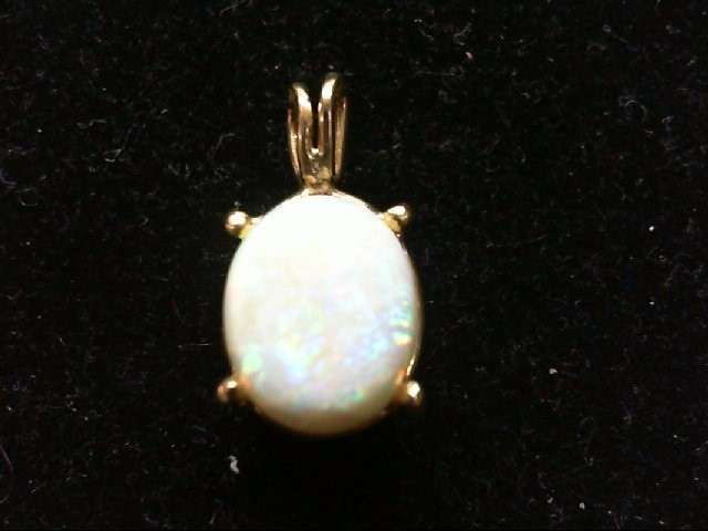 Opal Gold-Stone Pendant 14K Yellow Gold 1.9g