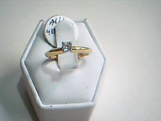 Lady's Diamond Solitaire Ring .20 CT. 18K Yellow Gold 3.1g Size:6
