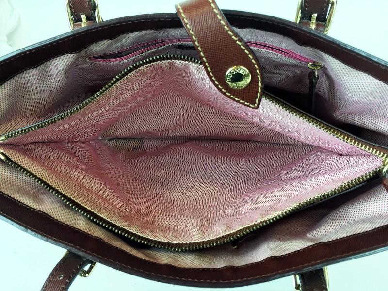 DOONEY & BOURKE LIGHT BROWN CANVAS SHOULDER BAG