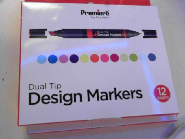 PREMIERE BY NICOLE Painting DUAL TIP DESIGN MARKERS