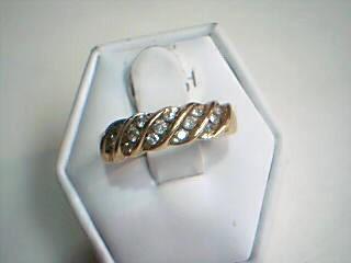Lady's Diamond Fashion Ring 15 Diamonds .35 Carat T.W. 10K Yellow Gold 3g