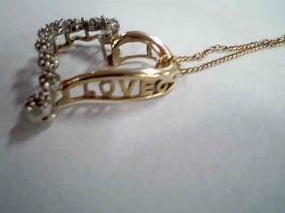 "18"" Diamond Necklace 33 Diamonds .33 Carat T.W. 10K Yellow Gold 2.2g"