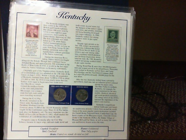 POSTAL COMMEMORATIVE SOCIETY Collection STATEHOOD QUARTERS COLLECTION