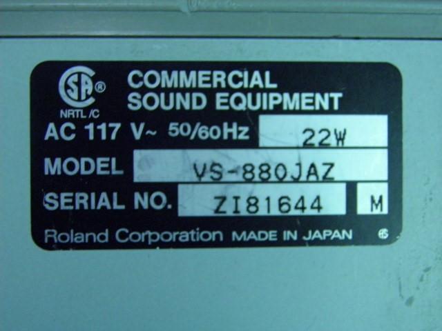 ROLAND Miscellaneous Appliances VS-880 DIGITAL WORKSTATION
