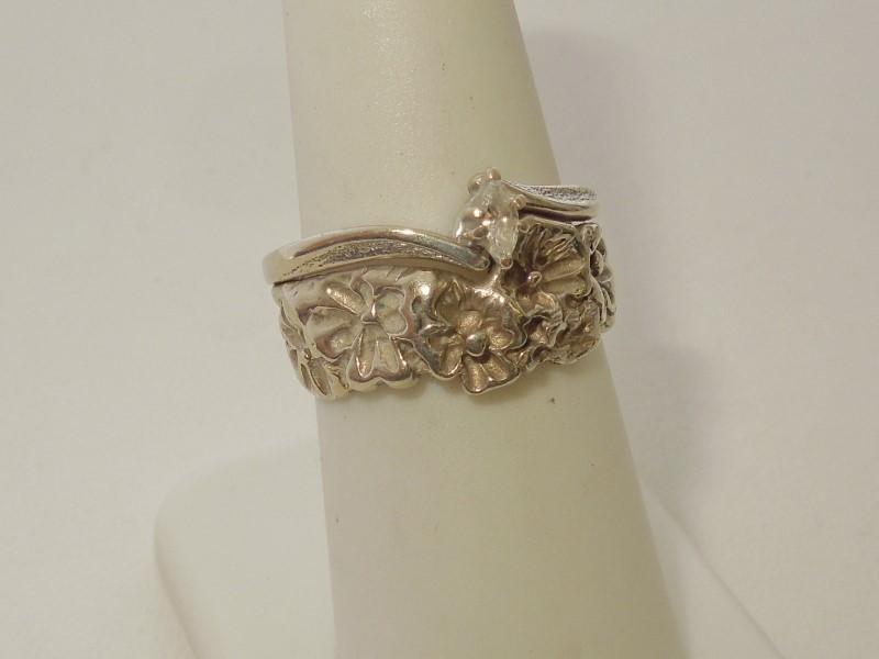 Lady's Diamond Fashion Ring .05 CT. 14K White Gold 6.4g