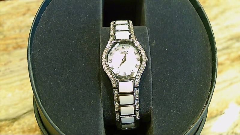 LADY'S CITIZEN WATCH WITH CRYSTALS AND MOTHER OF PERAL FACE WATCH