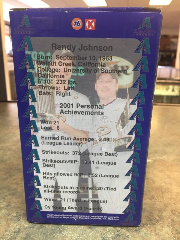 ARIZONA DIAMONDBACKS Collectible Plate/Figurine RANDY JOHNSON FIGURINE