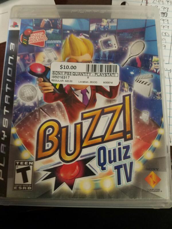 SONY Sony PlayStation 3 Game BUZZ QUIZ TV