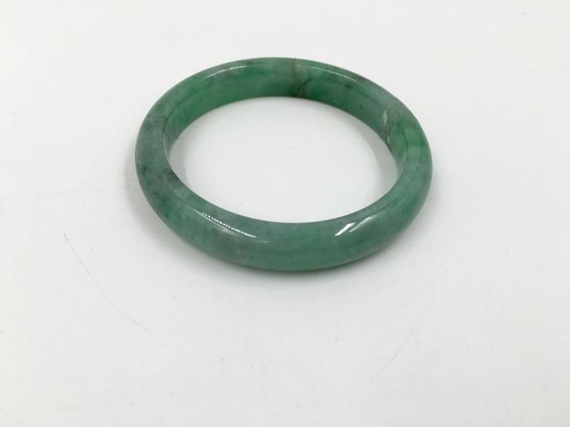 Green Jade Ladies Bangle Bracelet 50mm Width