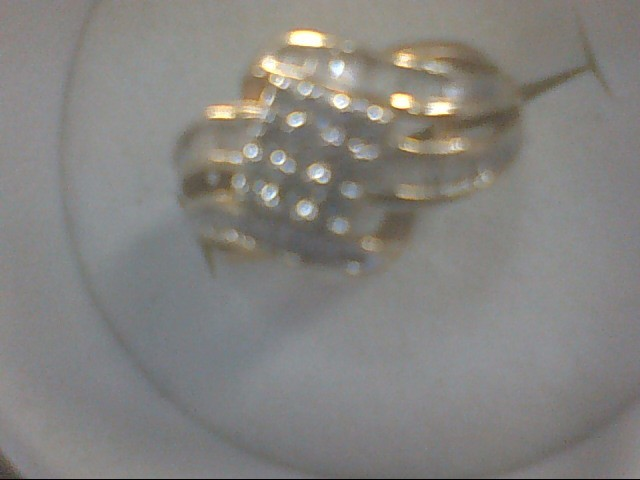 Lady's Diamond Cluster Ring 37 Diamonds .37 Carat T.W. 10K Yellow Gold 2.1g