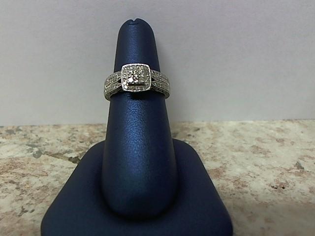 Lady's Diamond Wedding Set 55 Diamonds .300 Carat T.W. 14K White Gold 6.9g