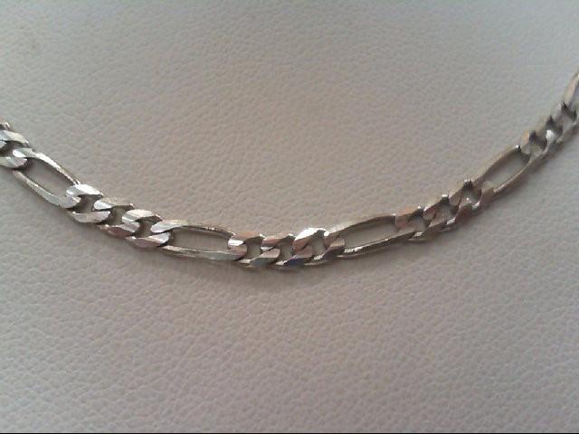 Gold Figaro Chain 14K White Gold 7.8g