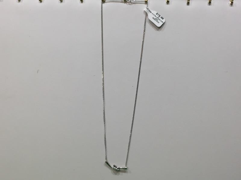 Diamond Necklace .01 CT. 10K White Gold 2.6g