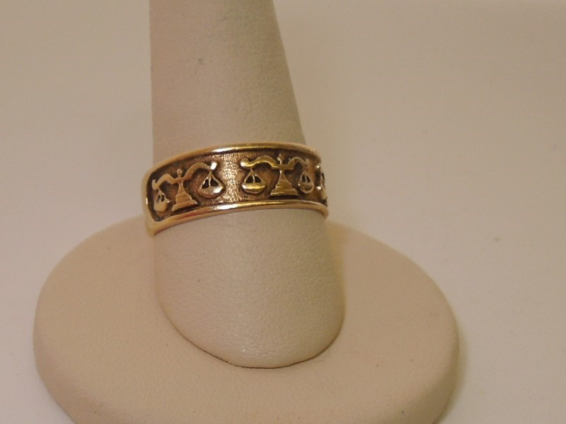 Lady's Gold Ring 10K Yellow Gold 4.2g Size:10