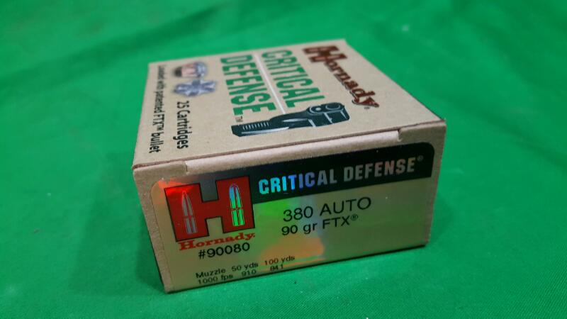 Hornady FTX® Critical Defense® .380 Automatic 90-Grain Handgun Ammunition