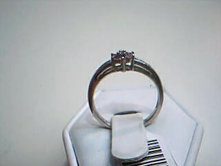 Pink Stone Lady's Stone Ring 10K White Gold 1.9g