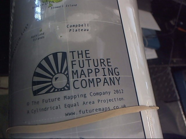 THE FUTURE MAPPING COMPANY huge map magnetic