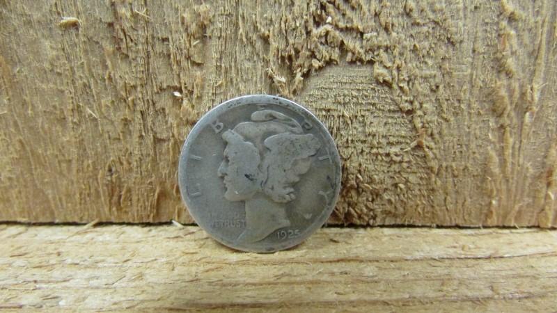 UNITED STATES Silver Coin 1925 MERCURY DIME